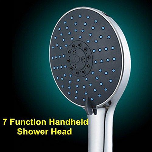 Handheld High Pressure Shower Head,PretiHom High-Fashion Extra-Large Shower Head with 7 Spray Settings Luxury Spa Grade Handheld Shower