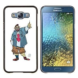 LECELL--Funda protectora / Cubierta / Piel For Samsung Galaxy E7 E700 -- Tío Chico Hombre Penal Caricatura Sonrisa --