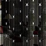 """Katherine String Curtain With Beads Door Window Panel Room Divider Tassels Decorative 39.4'' x 78.8"""" L (Black)"""