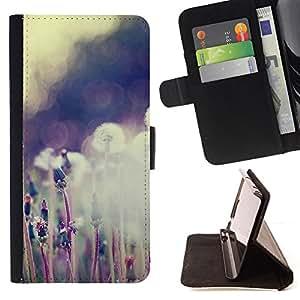 BullDog Case - FOR/Apple Iphone 5C / - / Plant Nature Forrest Flower 59 /- Monedero de cuero de la PU Llevar cubierta de la caja con el ID Credit Card Slots Flip funda de cuer