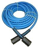 "UBERFLEX Kink Resistant Pressure Washer Hose 1/4"" x 50' 3,100 PSI with (2) 22MM"