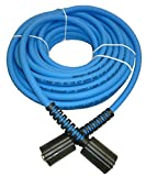 UBERFLEX Kink Resistant Pressure Washer Hose 1/4'' x 50' 3,100 PSI with (2) 22MM