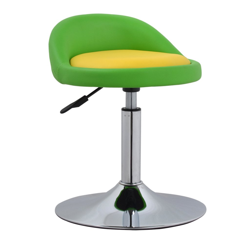Backrest chair, lift chair, simple front desk, European high stool, bar stool, bar stool -by TIANTA (Color : Green+red)