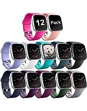 Zekapu Für Fitbit Versa Armband, Fitbit Versa Armbänder Ersatz Einstellbare TPU Sport Zubehör Armband für Fitbit Versa/Fitbit Versa Special Edition Klein Groß, 12 Farben