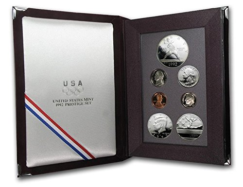 1992 S Prestige Proof Set in Original US Mint Packaging Original Box 6 Coins Olympics PR-01
