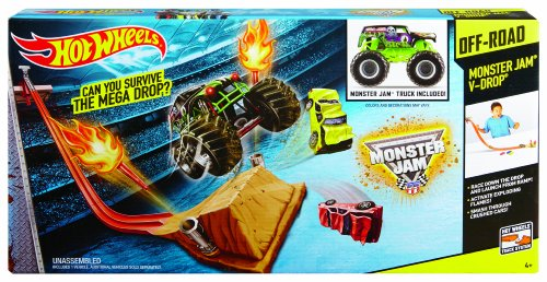 Buy Hot Wheels Monster Jam V Drop Track Set Online At Low Prices In India Amazon In
