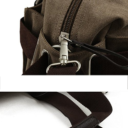 Satchel Leisure Men's Bag Black Canvas Hiking School Trendy Shoulder Travel Outdoor Moving TAnZqZwx