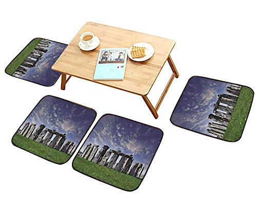 HuaWu-home Comfortable Chair Cushions Mysterious Stonehenge in UK Reuse can be Cleaned W17.5 x L17.5/4PCS Set (Chair Wicker Uk Hanging)