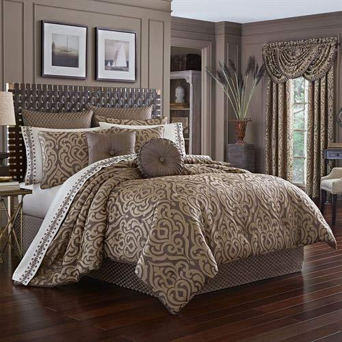 J Queen New York, Inc. Astoria Scroll Damask Comforter Set Coffee