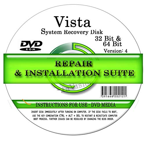 Advanced Repair Systems - Compatible WIN VISTA SYSTEM REPAIR & RE-INSTALL 32 Bit & 64 Bit BOOT DISK: Repair & Re-install Basic, Home, Premium and Ultimate (Windows 7 Ultimate 32 Bit Product Key Genuine)