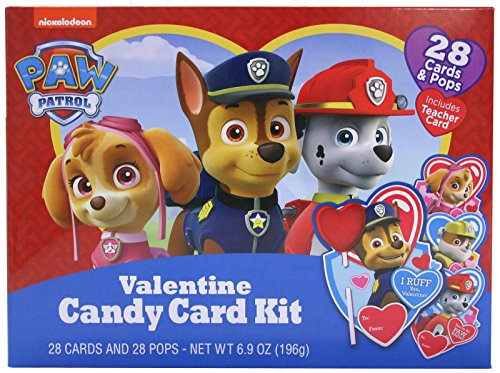 Valentines Lollipops Day (Nickelodeon Paw Patrol Valentine's Day Card Exchange Kit with Lollipops, 28 Count)