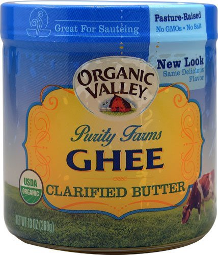 Organic Valley Purity Farms Ghee Clarified Butter 13 oz (Pack of 2)