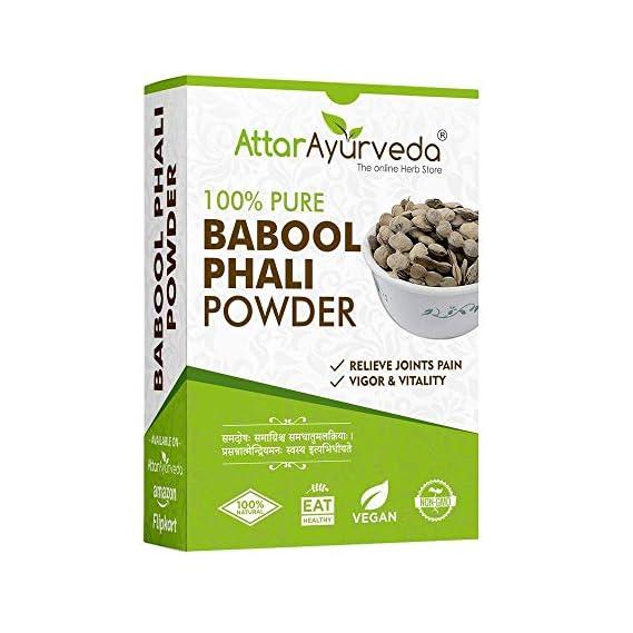 Attar Ayurveda Babool Phali - Babool Fali - Kikar Phali - Kikar Fali (Powder) (250 grams)