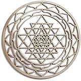 "Fourth Level Mfg. Designs 12"" Sri Yantra, Sri Chakra, Hindu Tantra, Wooden Wall Art Hindu, Zen Buddha, Oriental Wall Art, Wooden Wall Art Decor, Sacred Geometry Art, Geometry Art, Made in USA Items"