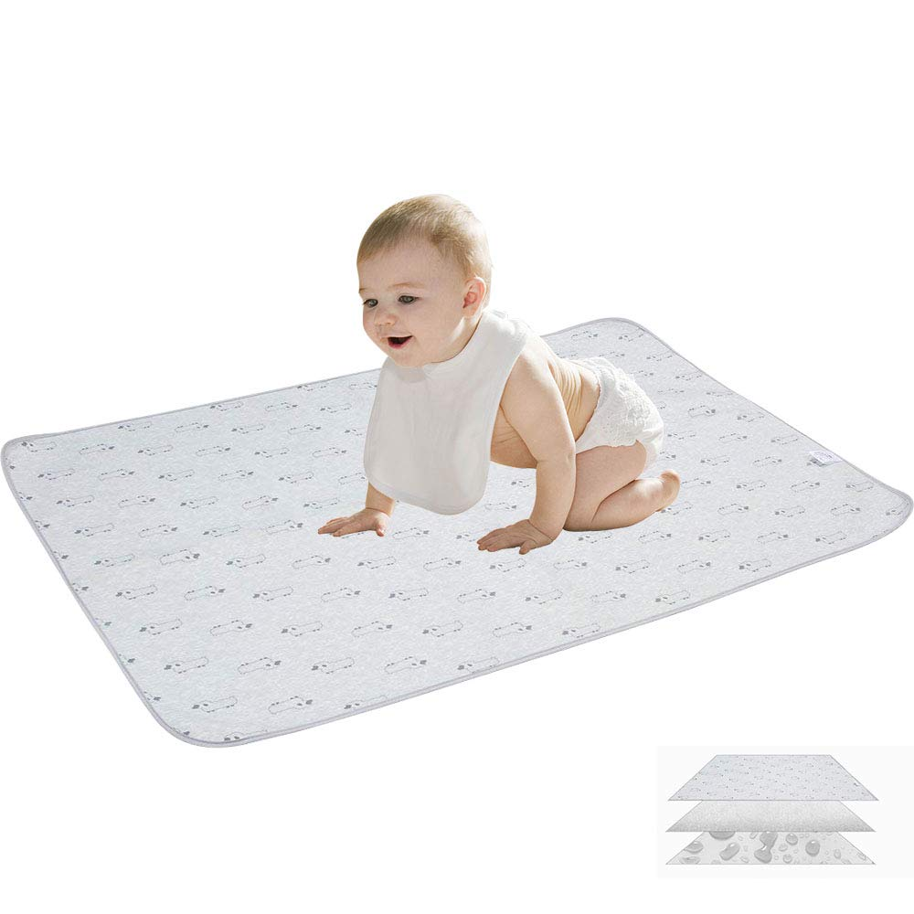 Changing Pad, Portable Waterproof Changing Diaper Mat (38.5 x 29), Multi-purpose Reusable Change Pad Travel Sheet for Baby Stroller, Crib, Mattress Pad Cover for Boys and Girls Singularity Products