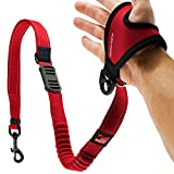 """EzyDog Handy 48 Bungee Dog Leash - The Best Hands-Free Running Leash Training Lead with Superior Control and Reflective Stitching - Zero Shock Shock-Absorbing Technology (Adjustable 36"""" - 48"""", Red)"""