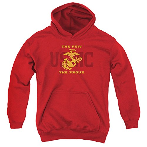 US Marine Corps Split Tag Unisex Youth Pull-Over Hoodie For Boys and Girls
