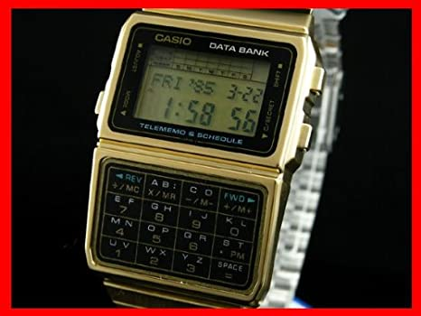 792dcc5220 Amazon | [カシオ]CASIO データバンク 腕時計 メンズ ゴールド DBC610GA ...