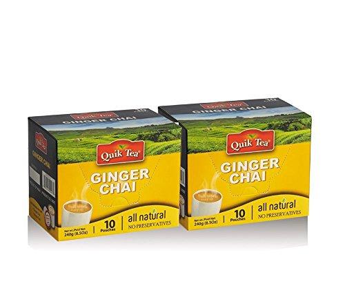 Quik Tea Ginger Chai Latte All Natural No Preservatives 20 Pouches - 480 g