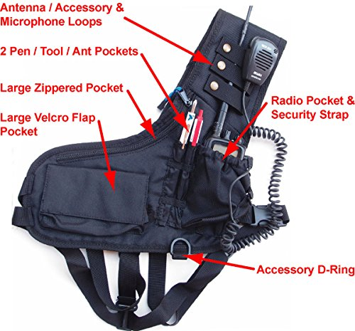 two way radio chest harness - 2