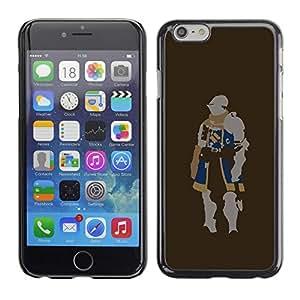 "For Apple Iphone 6 Plus / 6S Plus ( 5.5 ) , S-type Minimalista Knight"" - Arte & diseño plástico duro Fundas Cover Cubre Hard Case Cover"