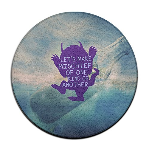 DonSir Cartoon Wild Monster Home Furnishing Round Bathroom Bathtub Floor NonSlip Mat (Velvet Costumes Ukraine)