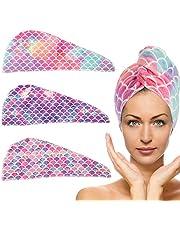 Paquete de 3 toallas de microfibra para secar el pelo