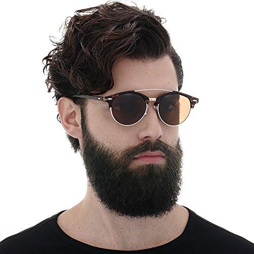 polarizadas Hombres sol Ronda Gafas steampunk sol de Amarillo mujeres Gafas de gafas hombres para Deportes HqEwxv8tF