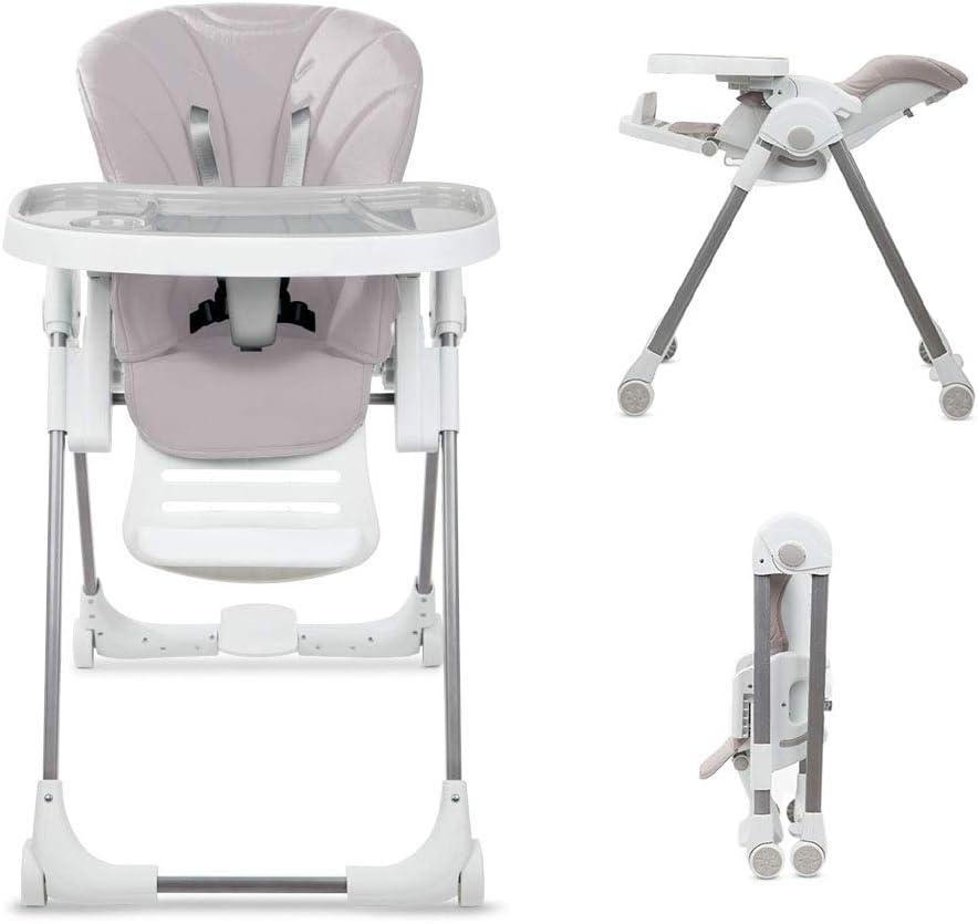 Babify Trona de bebé Evolutiva Comfort Plus. Reclinable, Ajustable con Plegado Compacto. Doble bandeja. Cojín ultrasoft
