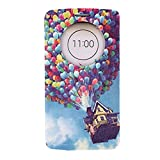 Coromose new Concise Balloon Fly House Circle Stand Flip Leather Case for LG G3 Blue