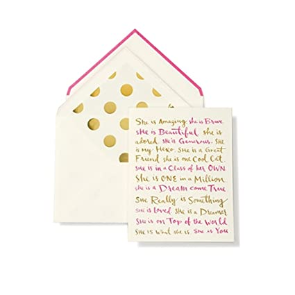 Amazon 1 x kate spade new york greeting card she is 1 x kate spade new york greeting card she is m4hsunfo