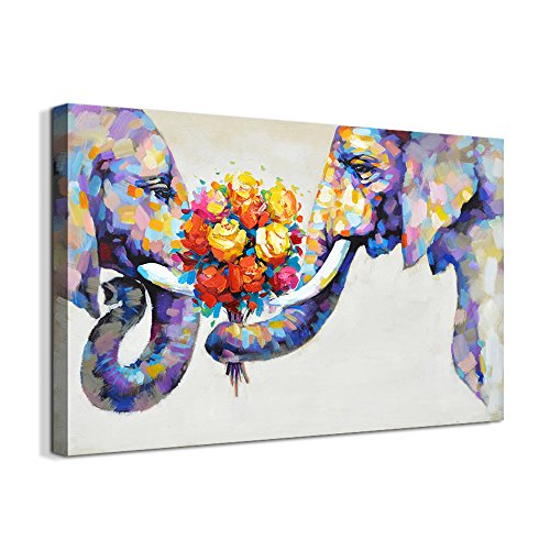 elephant wall animal oil painting