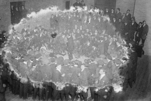 early 1900s photo Boxing Lenox Hill Settlement Vintage Black & White Photogra d1