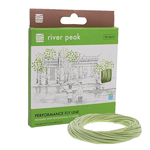 Cheap river peak FLY LINE DT 4 F #4 Double Taper Floating 100ft(30.5m) (GrassGreen)