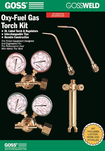 Goss KA-725-M 725 Series Oxy-Acetylene Welding and Brazing Kit with MC Acet Regulator