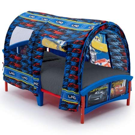 - Cars Toddler Bed with Tent and Mattress (Does not Ship to California)