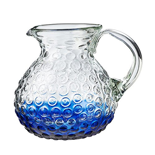 Catalina Collection Artisan Handmade Pitcher, Made of Mexican Recycled Glass - 80 oz ()