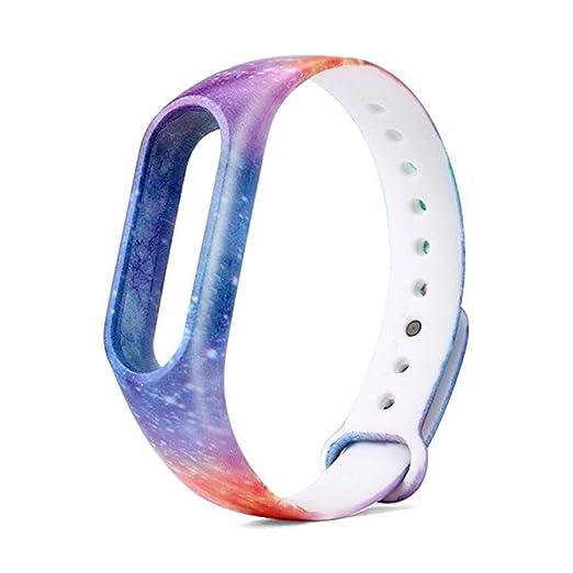 Fossrn Nueva correa elegante del reloj de silicona de moda para Xiaomi Miband 2 (01): Amazon.es: Relojes