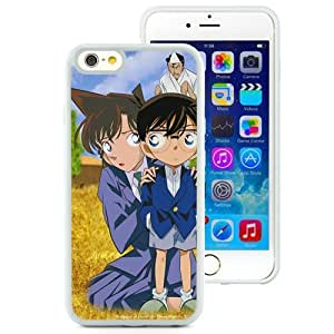 Popular And Unique Designed Cover Case For iPhone 6 4.7 Inch TPU With Detective Conan Child Girl Man Fear white Phone Case BY supermalls