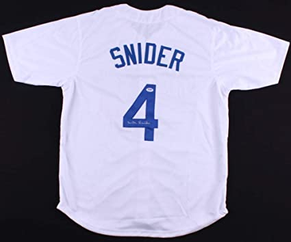 Duke Snider Autographed White Los Angeles Dodgers Jersey - Hand Signed By Duke  Snider and Certified bc694261eac