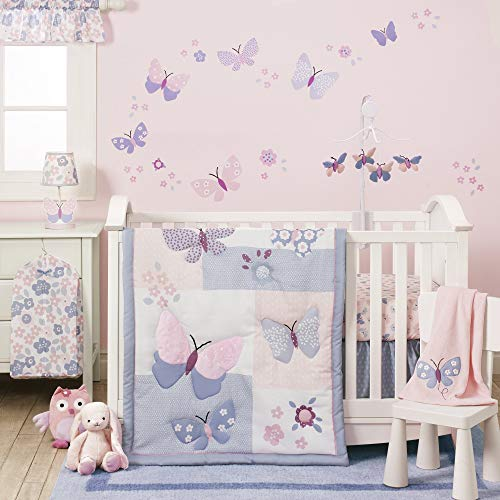Bedtime Originals Butterfly Meadow 3-Piece Bedding Set - Pink, Purple, White