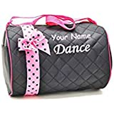 02c49e78b0f6 Amazon.com  Personalized Quilted Black with Pink Bow and Polk a Dots ...