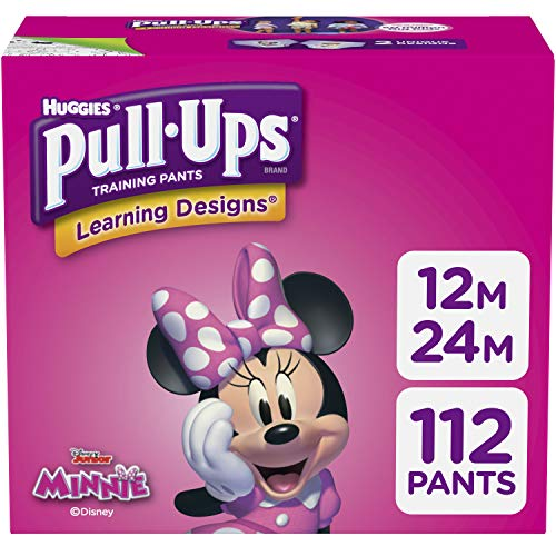 Pull-Ups Learning Designs for Girls Potty Training Pants, 12M-24M  (14-26 lbs.), 112 Ct. (Packaging May Vary)
