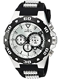 Men's 'Pro Diver' Quartz Stainless Steel and Polyurethane Casual Watch, Color Two Tone (Model: 24678)