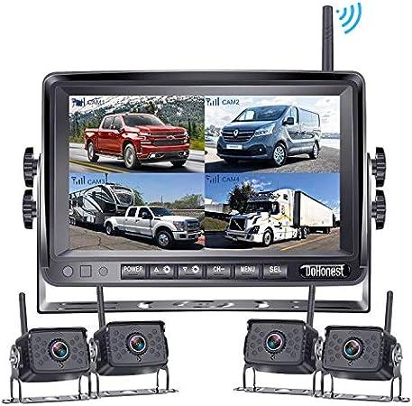 Dohonest Fhd 1080p Digital Wireless 4 Backup Kamera Kit Elektronik