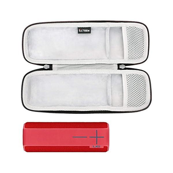 LTGEM EVA Étui rigide Sac de rangement de voyage pour Ultimate Ears UE BOOM 2 / UE BOOM 1 Haut-parleur portatif sans fil Bluetooth. Compatible avec câble USB et chargeur mural 3