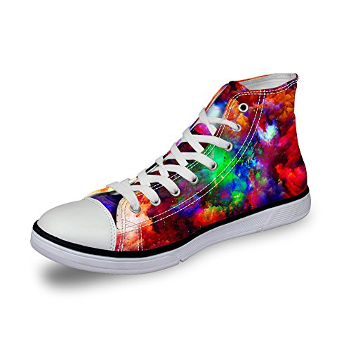 Canvas Shoes Lightweight Sneakers Prints High Women Universe Top 5 Coloranimal Galaxy Universe Animal q6p1xICwxX