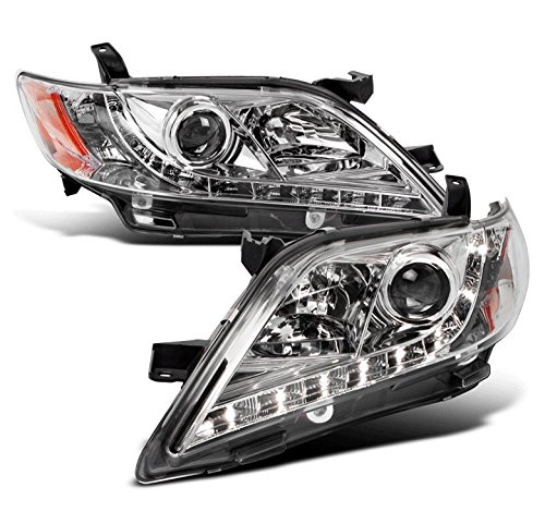 Jdm Projector Headlights - ZMAUTOPARTS Toyota Camry DRL LED JDM Chrome Projector Headlight Left+Right Pair Set