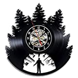 Twin Peaks Vinyl Wall Clock Art Gift Room Modern Home Record Vintage Decoration