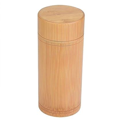 Sugoyi Tea Container L Tea Jar Portable Bamboo Tea Jar Storage Holder Container Box